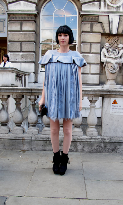 Pleated Dress LFW