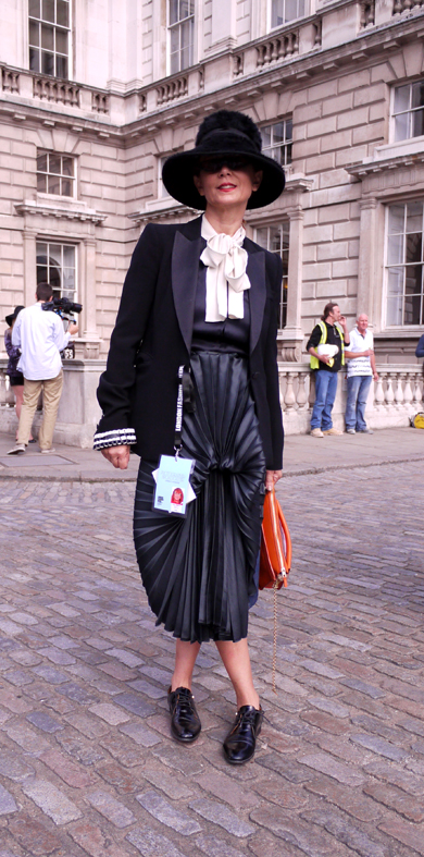 Pleated Silk Skirt LFW