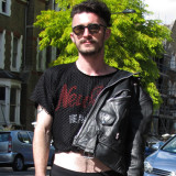 Alex: Leather & Levi's in Evening Standard's London Looks