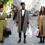 Street Style: London Christmas Shoppers for Evening Standard