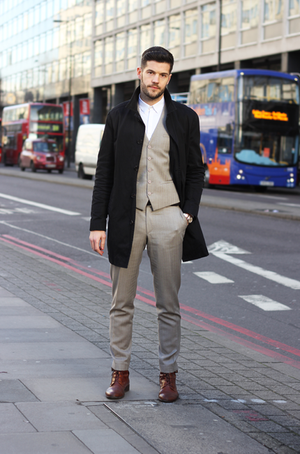 Street Style Tim Smith In A Kooples Suit Street Style