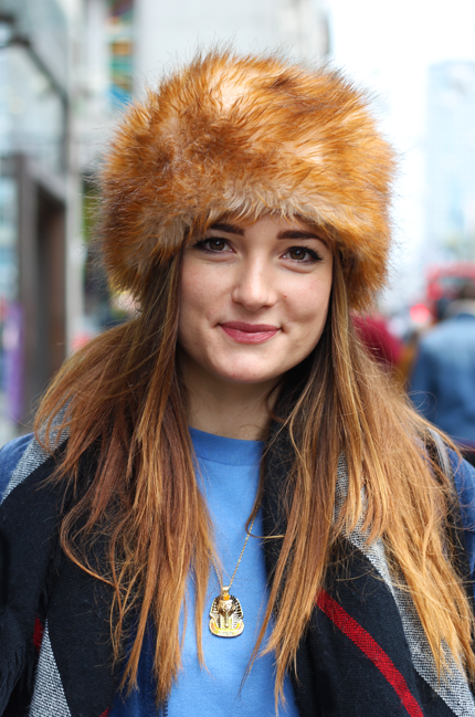 Samara Curtis-Quick fur hat